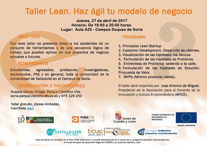 27 abril 2017 taller lean campus so