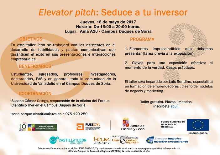 18 mayo 2017 lean elevator pitch campus so